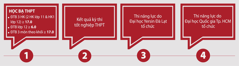 Điều kiện tuyển sinh trường Đại học Yersin Đà Lạt