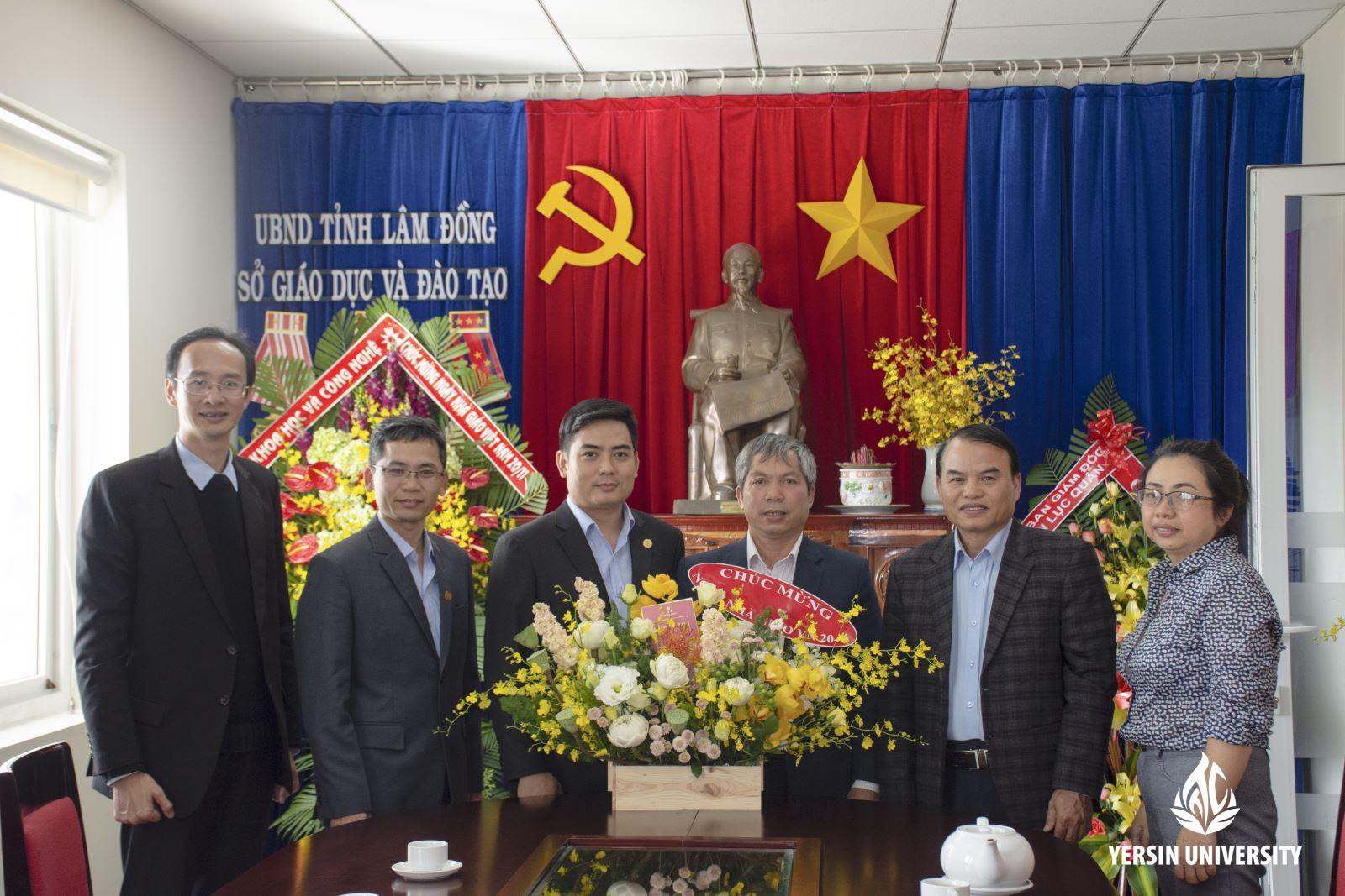 Lãnh đạo TTC Edu, Lãnh đạo Trường Đại học Yersin Đà Lạt đến thăm và chúc mừng Sở Giáo dục & Đào tạo tỉnh Lâm Đồng
