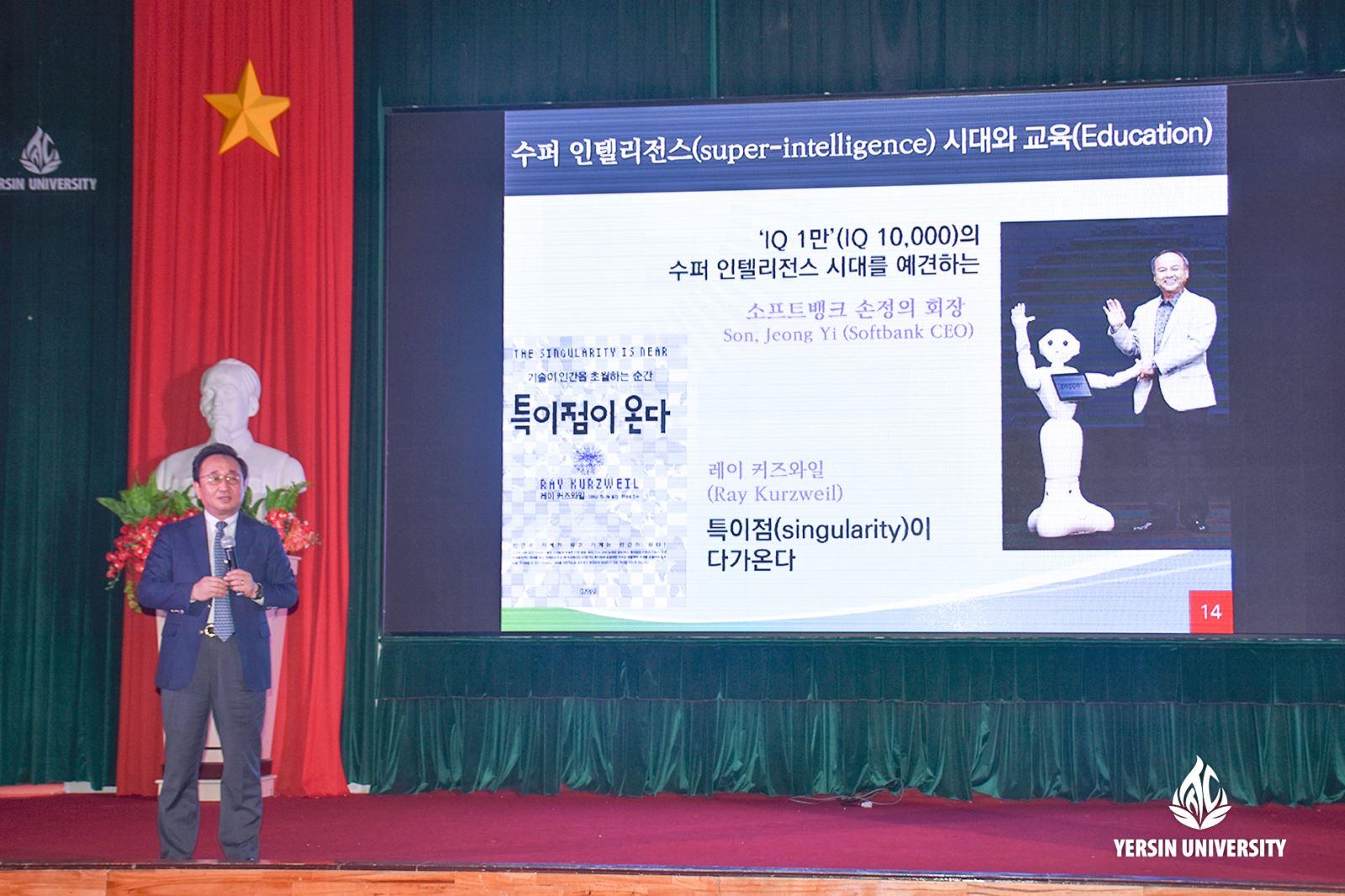 GS. TS. Choe HoSeong – Phó Chủ tịch Bộ phận Hoạch định tương lai, Giám đốc xúc tiến hợp tác giáo dục Hàn Quốc – Việt Nam của Trường Đại học Kyungnam